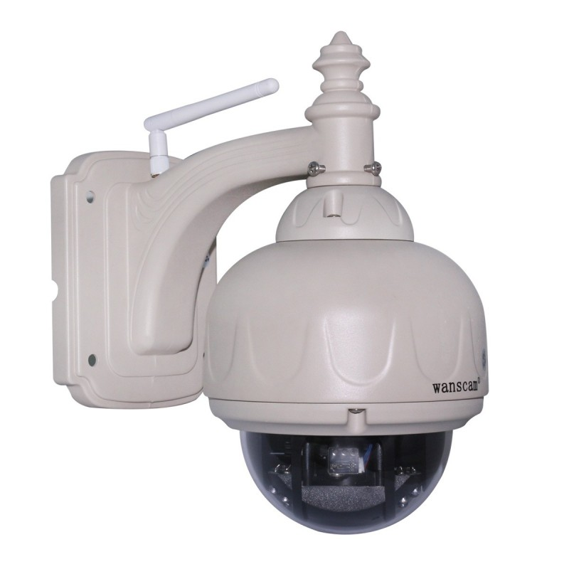 Jw0010 cam ra ip dome ext rieur motoris e wifi vga avec for Camera exterieur wifi