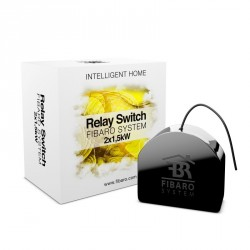 Fibaro FGS-222 Switch 2x1,5kW (2,5kW max. Total) - Micromodule Interrupteur double On / Off