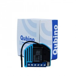 "QUBINO ""Flush 1 relay"" V2 ZMNHAD1 - Micromodule 1 relais (ON/OFF) Z‑Wave Plus avec mesure de consommation (remplace le ZMNHAA2)"