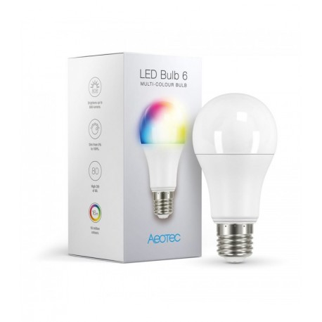 Aeotec ZWA002 LED Bulb 6 - Ampoule RGB Z-Wave Plus