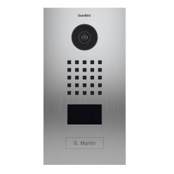 DoorBird D2101V V4A - Portier interphone vidéo connecté encastrable RFID - Version résistante aux embruns marins - Inox V4A