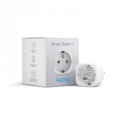 "Aeotec ZW175 ""Smart Switch 7"" - Prise ON/OFF Z-Wave+ 10A ultra-compacte avec mesure de consommation"
