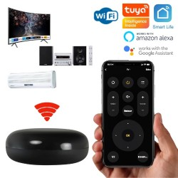 Emetteur télécommande infrarouge WiFi compatible Tuya Smart Life, Google Home, Amazon Alexa, Siri Shortcuts
