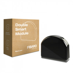 Fibaro FGS-224 Double Smart Module - Micromodule Z-Wave Plus à contact sec double sortie On/Off (remplace FGS-222)