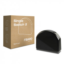 "Fibaro FGS-213 ""Single Switch 2"" - Micromodule Interrupteur simple On / Off Z-Wave+ avec mesure de consommation"