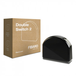 "Fibaro FGS-223 ""Double Switch 2"" - Micromodule Interrupteur double On / Off Z-Wave+ avec mesure de consommation"