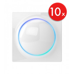 Lot de 10 x Fibaro Walli Double Switch FGWDSEU-221 - Interrupteur d'éclairage double relais ON/OFF Z-Wave+