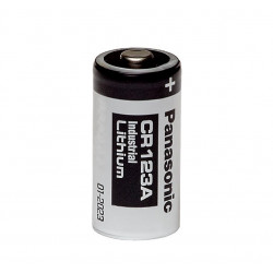 Panasonic industrial CR123A 1400mAh - Pile lithium 3V pour alarme AJAX et modules domotiques