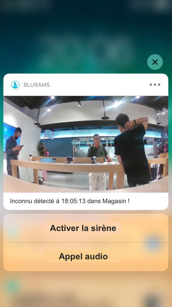 Application Blurams pour smartphones iOS et Android