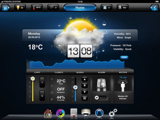 Application iPad pour Fibaro Home Center 2 (HC2)