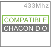 Chacon DiO1 à 433 MHz, Trust Smart Home, Intertechno, etc.