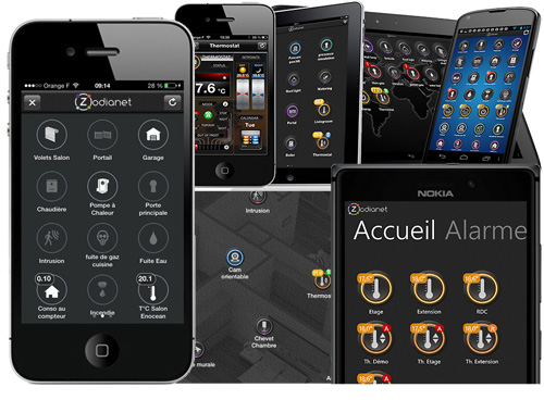 Applications iPhone, iPad, Android
