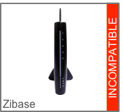 Incompatible avec la box domotique Z-Wave (Zwave) Zibase de