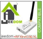 Compatible Jeedom + RFXtrx433E