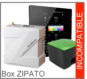 Incompatible avec la box domotique Z-Wave (Zwave) Zipabox de Zipato