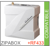 Compatible Zipabox via RF433Mhz