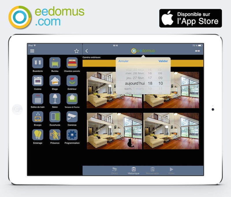 Application iPhone, iPad, Android pour eedomus